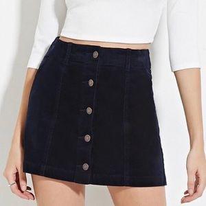 Aritzia denim snap button skirt black stretchy